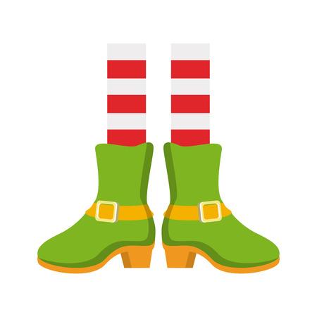 St patricks day elf shoes cartoons vector illustration graphic design
