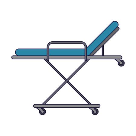 Diseño gráfico del ejemplo del vector aislado del símbolo de la camilla médica