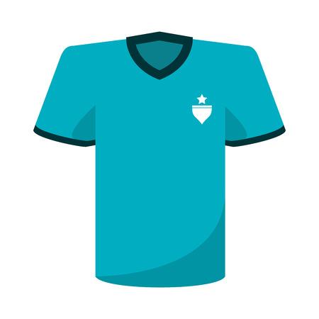 soccer tshirt wear symbol vector illustration graphic design