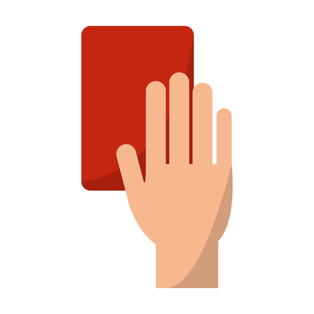 soccer red card in hand vector illustration graphic design Vectores