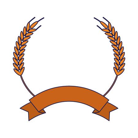 Symbol żywności pszenicy z pustą wstążką transparent wektor ilustracja projekt graficzny Ilustracje wektorowe