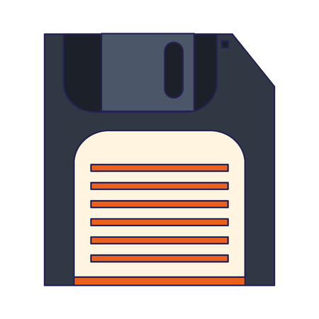 diskette save symbol isolated vector illustration graphic design 向量圖像