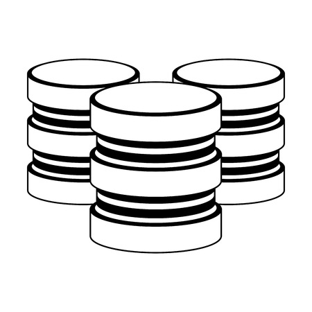 servers database disks technology vector illustration graphic design