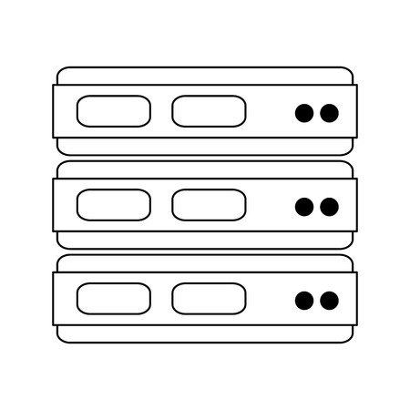 servers database technology isolated vector illustration graphic design