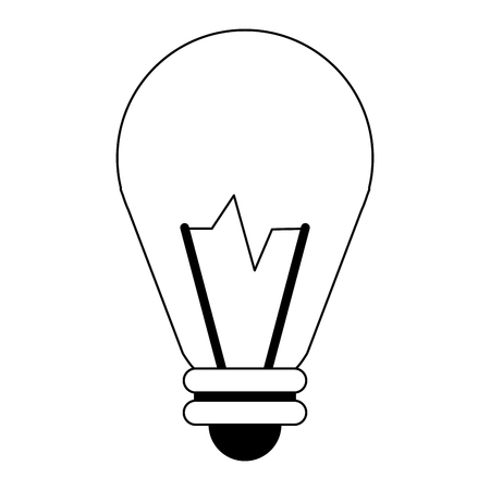 bulb light big idea symbol vector illustration graphic design Illustration