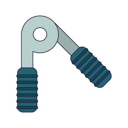 fitness handgrip equipment isolated vector illustration graphic design
