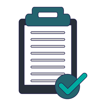 clipboard note symbol isolated vector illustration graphic design Ilustrace