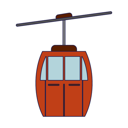 Cableway transport symbol isolated vector illustration graphic design