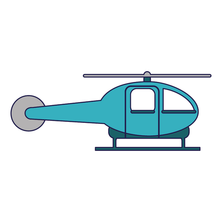 helicopter aircraft sideview isolated vector illustration graphic design