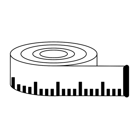 measurement tape isolated symbol vector illustration graphic design
