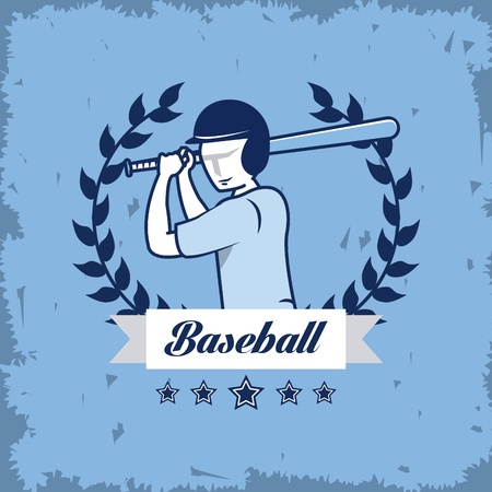 Baseball championship sport game card with elements vector illustration graphic design