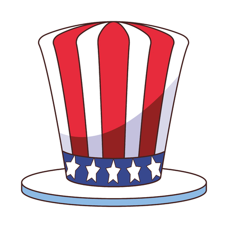 american flag hat cartoon vector illustration graphic design Illusztráció