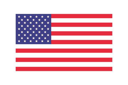 american flag cartoon vector illustration graphic design