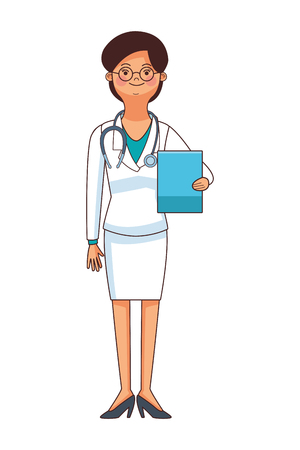 medicine doctor woman cartoon vector illustration graphic design Illustration