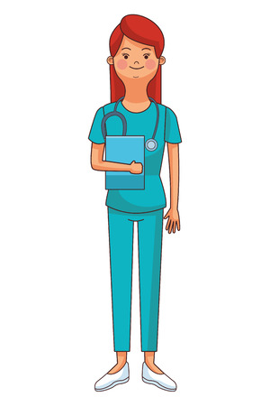 medicine nurse woman cartoon vector illustration graphic design Illustration