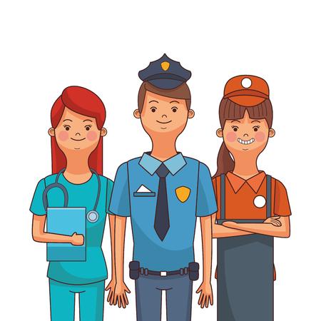 american labor day professional people cartoon vector illustration graphic design