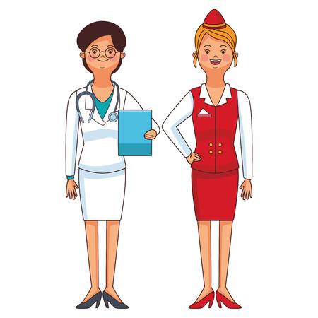 american labor day professional women cartoon vector illustration graphic design Vectores