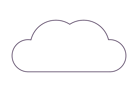 cloud isolated icon vector illustration graphic design Illustration