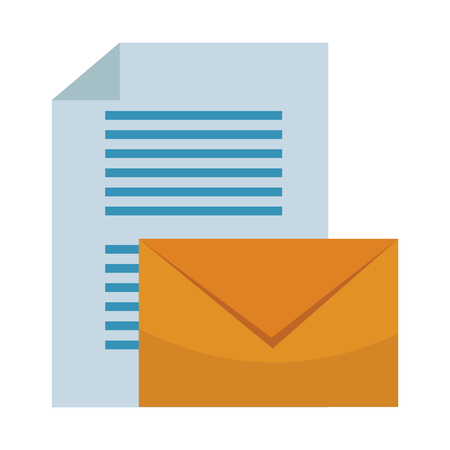 envelope and documents vector illustration graphic design Illustration