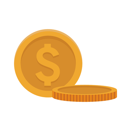 coins isolted icon vector illustration graphic design Foto de archivo - 125830341
