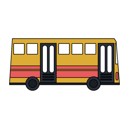 Public bus vehicle sideview vector illustration graphic design Vettoriali
