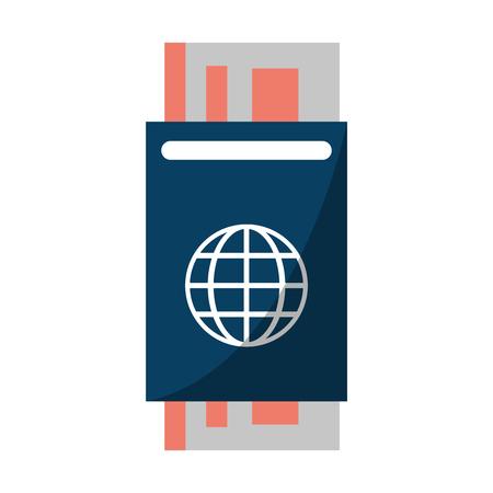 Passport with ticket symbol vector illustration graphic design Standard-Bild - 116074666