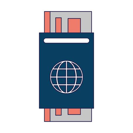 Passport with ticket symbol vector illustration graphic design Standard-Bild - 116074758