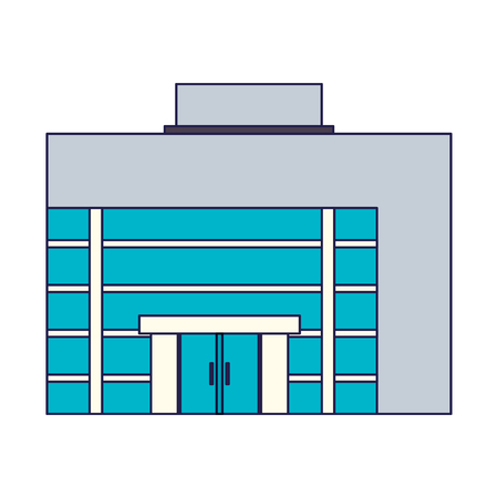 Business building real estate vector illustration graphic design