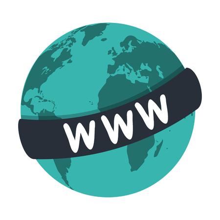 World website symbol isolated vector illustration graphic design
