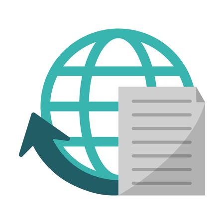 document global sphere symbol vector illustration graphic design