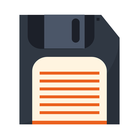 diskette save symbol isolated vector illustration graphic design