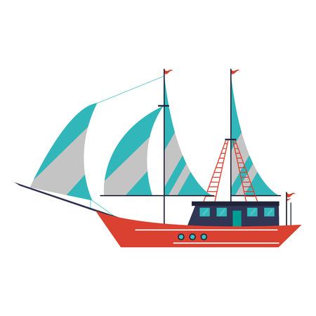 Sailboat ship symbol isolated vector illustration graphic design