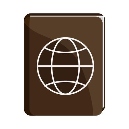 Passport travel document symbol vector illustration graphic design Standard-Bild - 116075055
