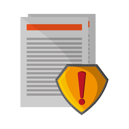 documents attention badge sign vector illustration graphic design