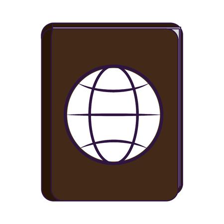 Passport travel document symbol vector illustration graphic design Standard-Bild - 116075121
