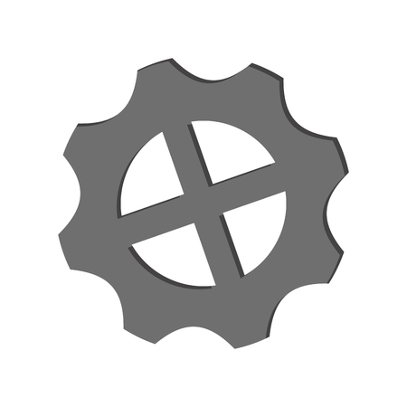 gear machinery piece symbol vector illustration graphic design