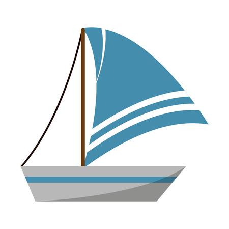 Sailboat boat symbol isolated vector illustration graphic design