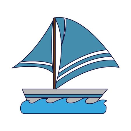 Sailboat on sea symbol vector illustration graphic design