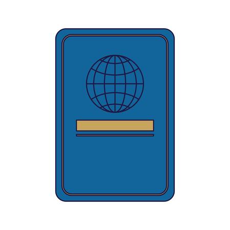 Travel passport document isolated vector illustration graphic design Standard-Bild - 116146818