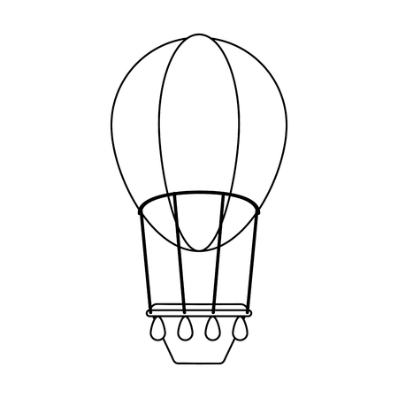 Hot air balloon isolated vector illustration graphic design Ilustração