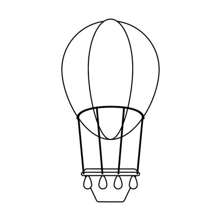 Hot air balloon isolated vector illustration graphic design Illustration