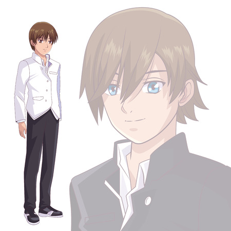 anime manga men fade background vector illustration graphic design