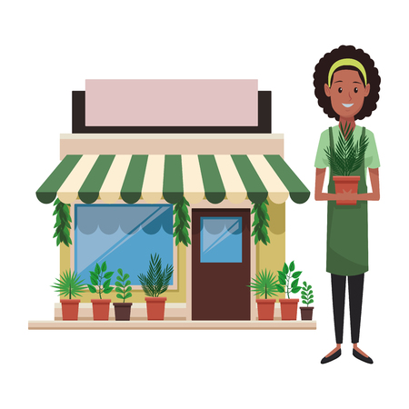 store shopping front cartoon vector illustration graphic design