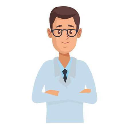 pharmacy pharmacist cartoon vector illustration graphic design