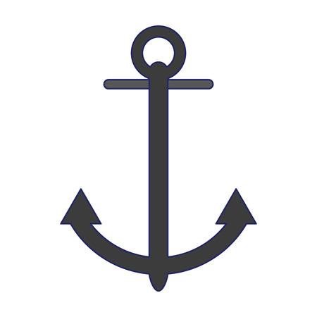 anchor marine symbol isolated vector illustration graphic design Illustration