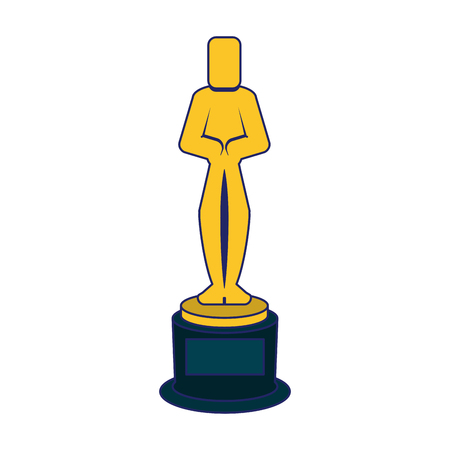 Oscar award trophy symbol vector illustration graphic design