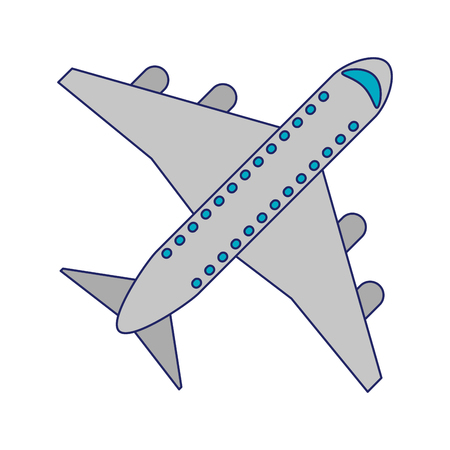 airplane jet symbol isolated vector illustration graphic design Vectores
