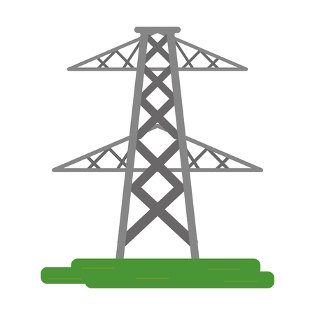 electric tower symbol isolated vector illustration graphic design