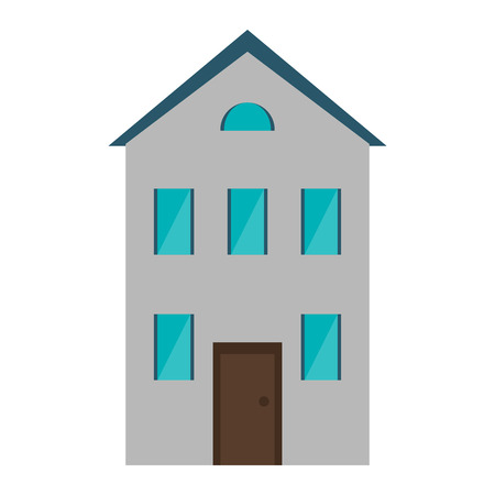 House real estate cartoon isolated vector illustration graphic design
