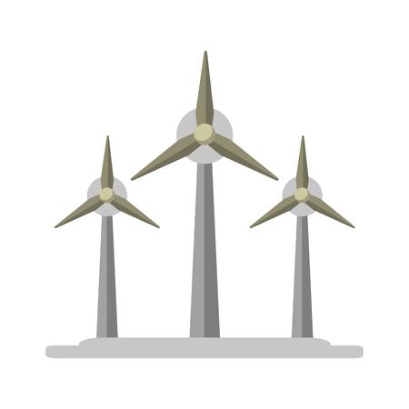 wind turbines eolic energy symbol vector illustration graphic design